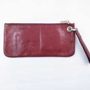 HOBO International Red Leather Clutch Wristlet